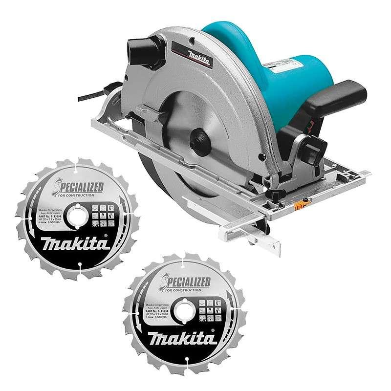 Scie circulaire makita 5903rk 2000w 235mm deux disques - Disque scie circulaire ...