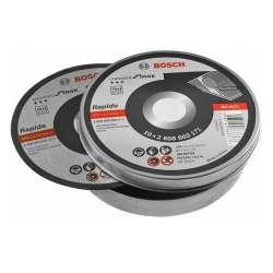 Boite de 10 disques à tronçonner Rapido Ø 125 mm spécial inox BOSCH 2608603255