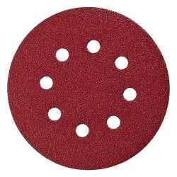 Disque abrasif Ø 125mm Red velcro avec 8 trous