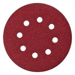 Lot de 10 disques abrasifs MAKITA Ø 125 mm Red Auto-agrippant avec 8 trous