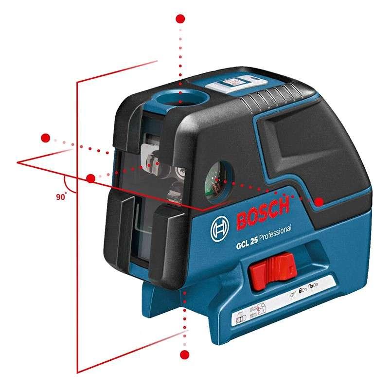 Laser points BOSCH GCL25 Professional + Trépied BOSCH BS150