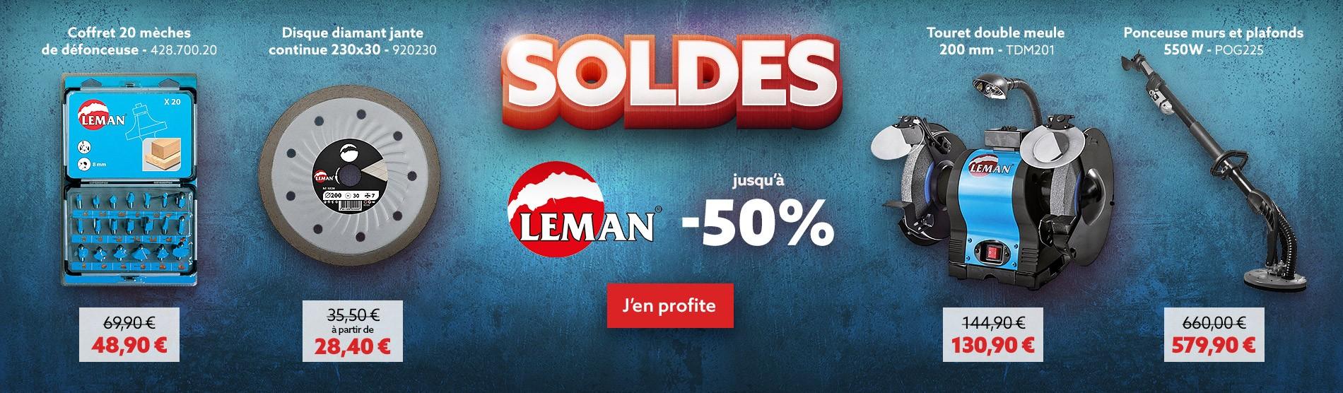 Soldes Leman jusqu'à -50%
