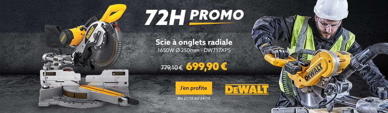 Scie à onglets radiale DEWALT DW717XPS 1650W Ø 250mm