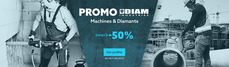 Promo Diam Industries - Jusqu'à -50% sur les machines & diamants