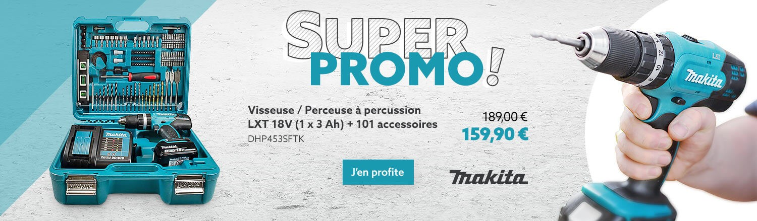 Visseuse / Perceuse à percussion MAKITA en PROMO !