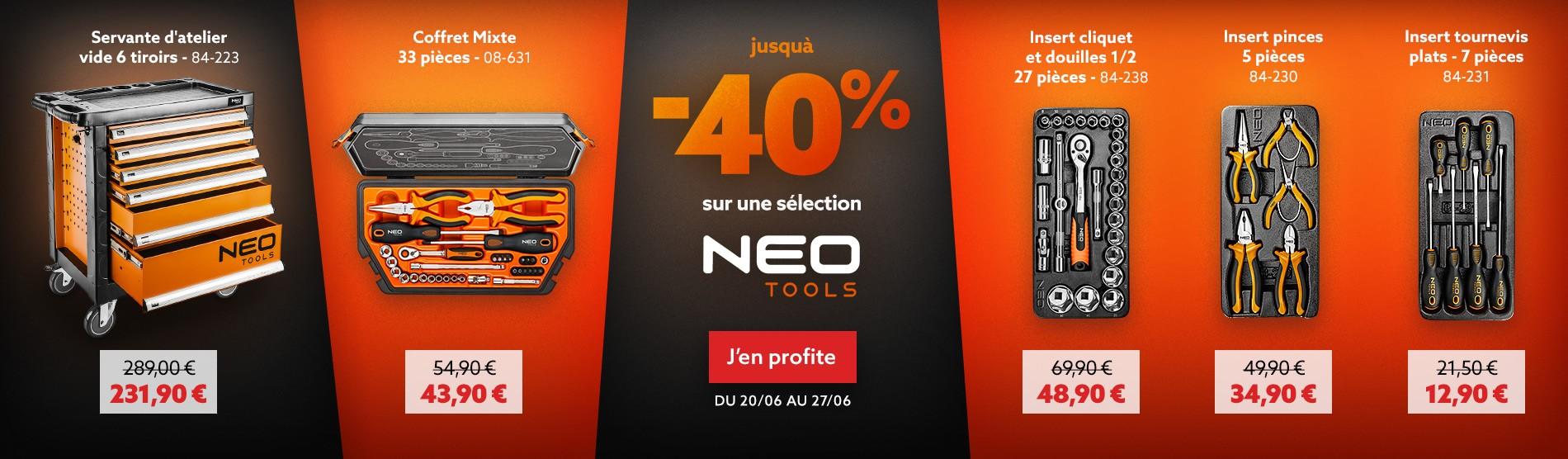 Jusqu'à -50% sur une sélection Neo Tools