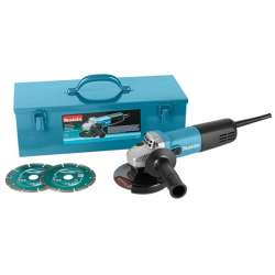 Meuleuse d'angle Makita 9558HNKD2 125 mm + 2 Disques Diamant