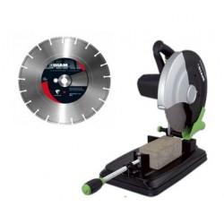 Scie DIAM EST350 Portative Compacte et Maniable 230V - 2400W + DISQUE DIAMANT BETON VIEUX BS45 Ø 350 mm Offert