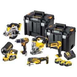 Pack 6 outils DEWALT DCK665P3T (3x5Ah) + 2 TSTAKS