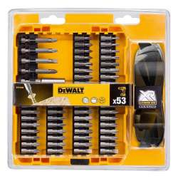 Coffret de vissage DEWALT DT71540 53 pièces + Lunette solaire de protection