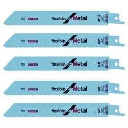 Lot de 5 lames de scie sabre BOSCH S922BF Professional (METAL)